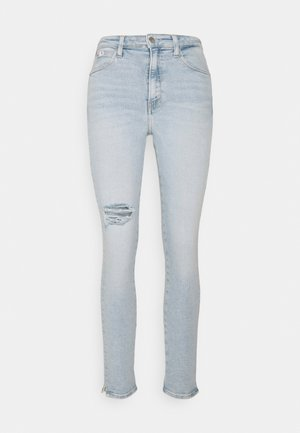 HIGH RISE ANKLE - Jeans Skinny Fit - blue