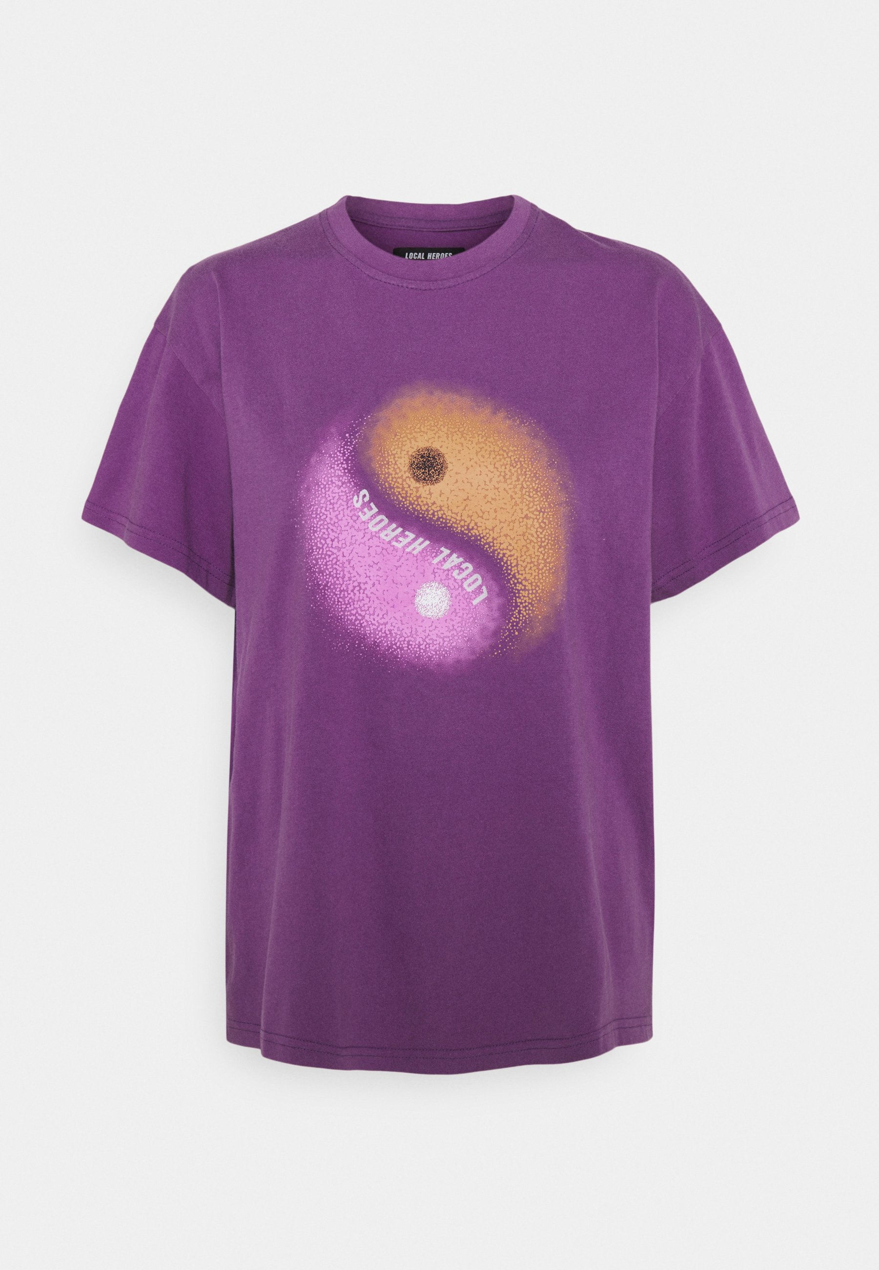 Women YIN YANG PURPLE  - Print T-shirt