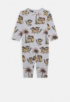 WARNER BROS WHERE THE WILD THINGS ARE LONG SLEEVE SNAP ROMPER - Mono - cloud marle