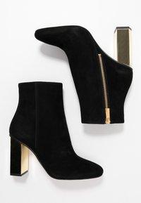 MICHAEL Michael Kors - PETRA - High heeled ankle boots - black - 3