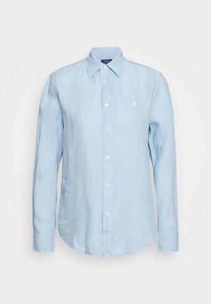 RELAXED LONG SLEEVE - Button-down blouse - powder blue