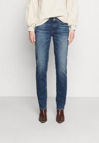 Marc O'Polo - TROUSER MID WAIST - Straight leg jeans - blue denim - 0