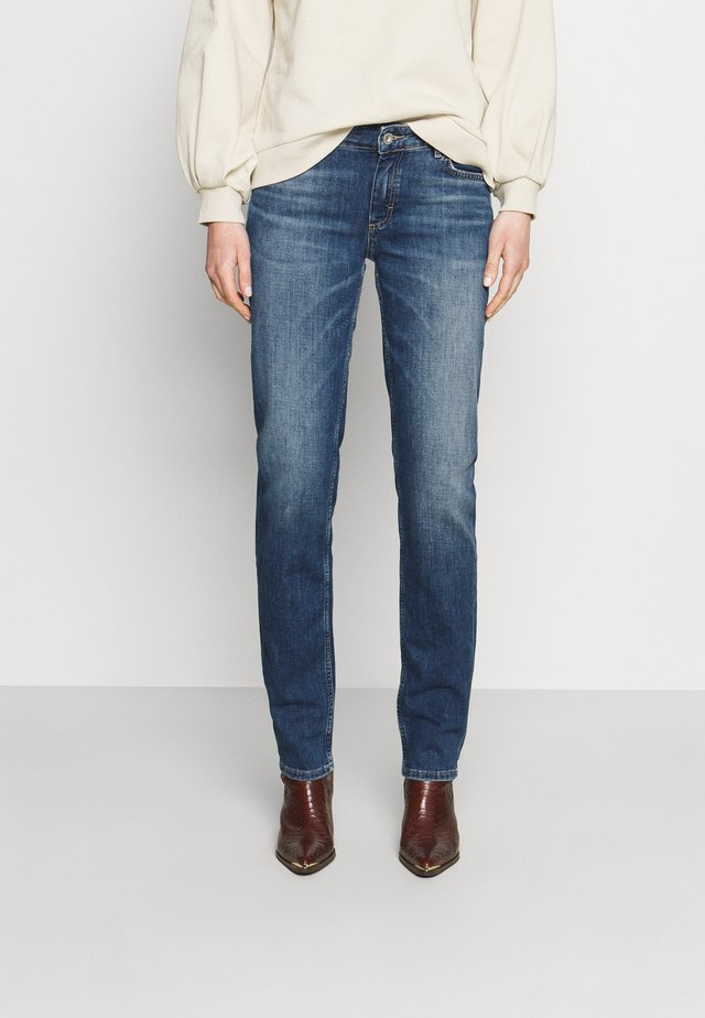 TROUSER MID WAIST - Vaqueros rectos - blue denim