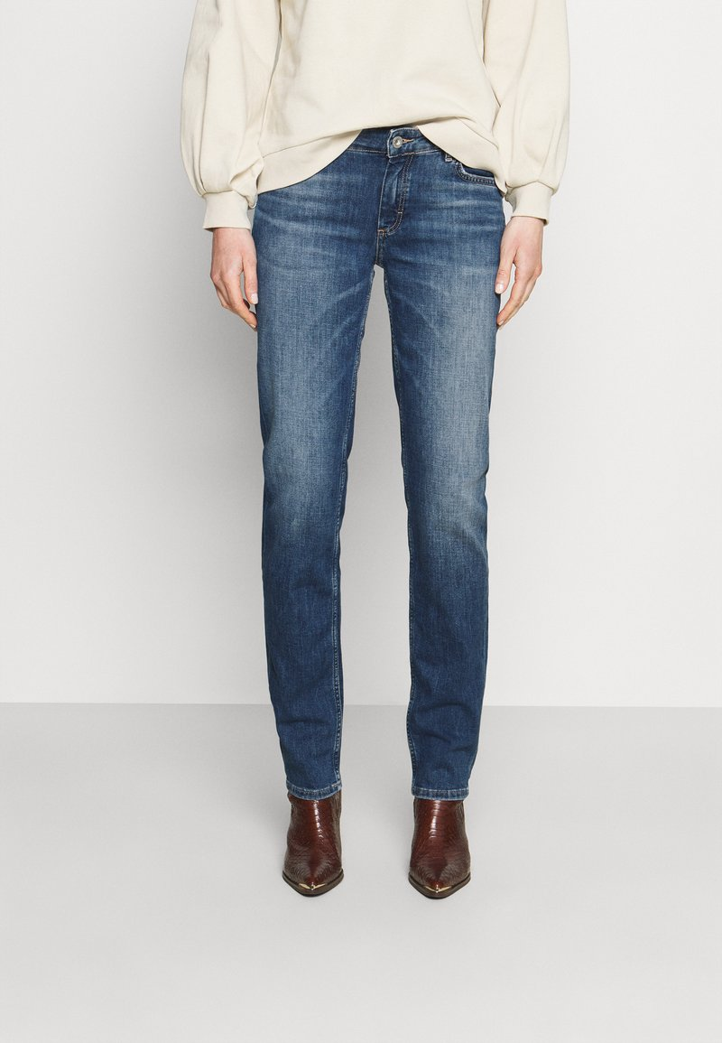 Marc O'Polo - TROUSER MID WAIST - Straight leg jeans - blue denim