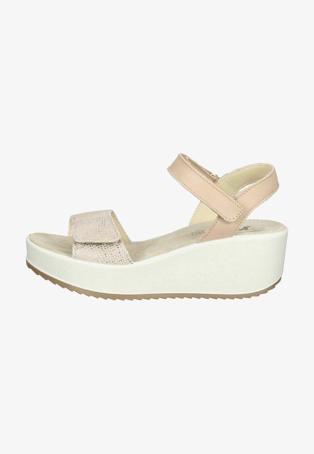 Sandalen met plateauzool - taupe/beige