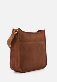 Zign - LEATHER - Across body bag - cognac - 1