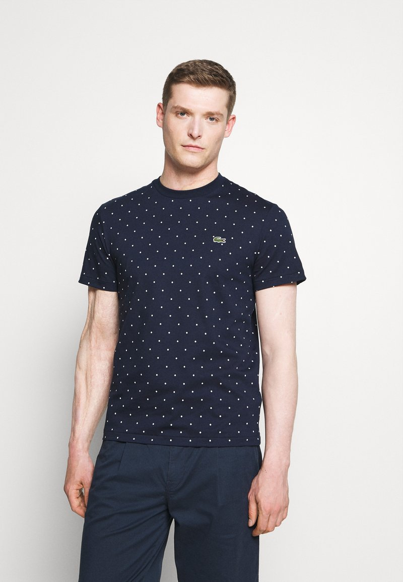Lacoste - Print T-shirt - navy blue