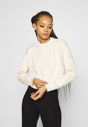 FUNNEL NECK CROPPED JUMPER - Jumper - cream