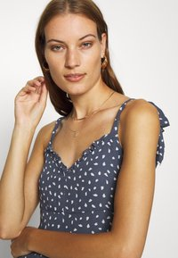 Abercrombie & Fitch - TIE SHOULDER DRESS - Day dress - blue/white - 0