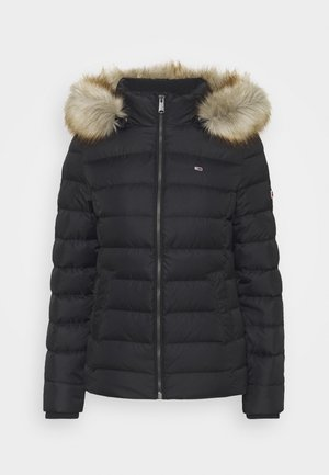 BASIC HOODED JACKET - Down jacket - black