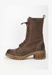 Inuovo - Platform ankle boots - nb brown ubr - 1