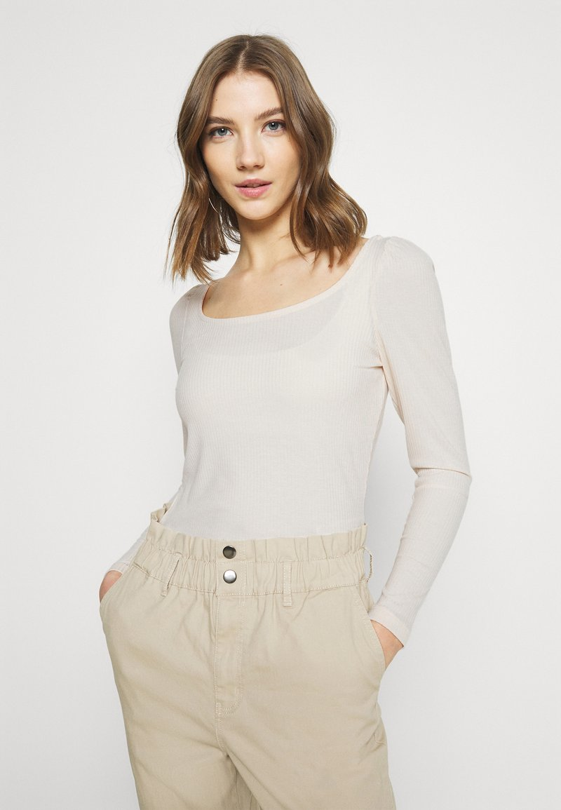 Vila - VILANA SQUARE NECK - Long sleeved top - birch