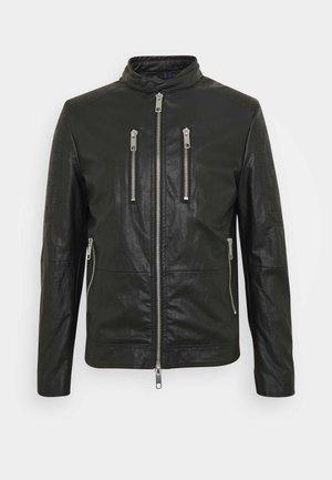 BIKER COAT - Imitatieleren jas - black