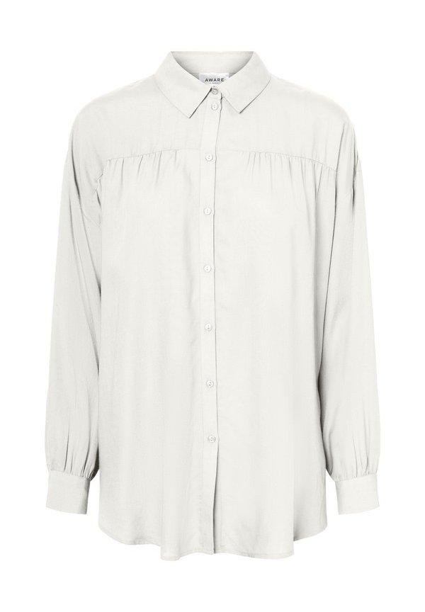 Vero Moda OLUMENÄRMEL - Koszula - snow white/biały WBMQ