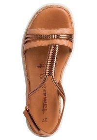 Tamaris - Platform sandals - nut/bronce - 3