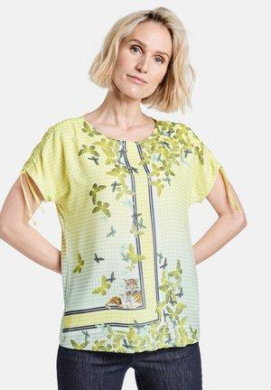 Print T-shirt - off white ligh lime aloe druck