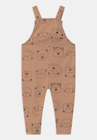 Turtledove - CUB FACE EASY FIT DUNGAREES UNISEX - Mono - brown - 1