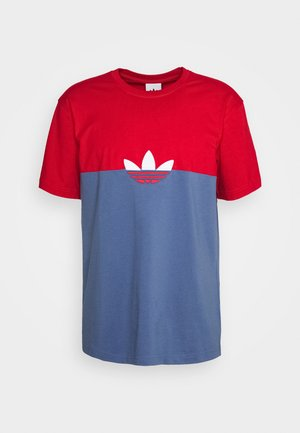 SLICE BOX - T-shirt print - crew blue/scarlet