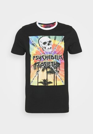 PSYCHE - Print T-shirt - black/multi-colour