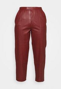 DAY Birger et Mikkelsen - PIGEON - Leather trousers - tulip - 3