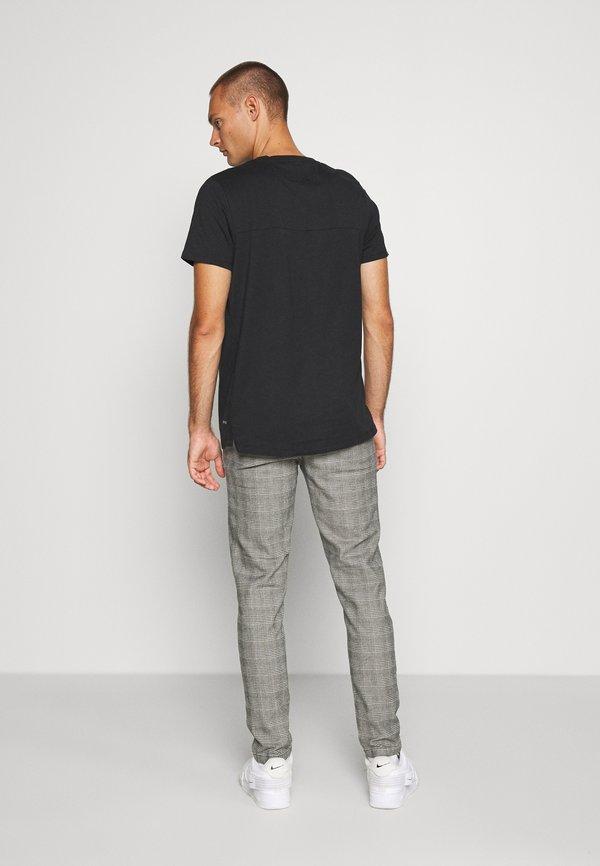 Redefined Rebel KING PANTS - Spodnie materiałowe - grey mustard/jasnoszary Odzież Męska UODS