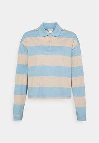 Monki - Long sleeved top - blue light/beige light - 4