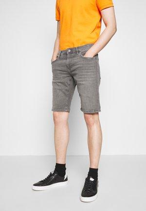 Denim shorts - grey medium wash