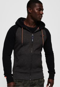 Superdry - Zip-up hoodie - dark gray - 0