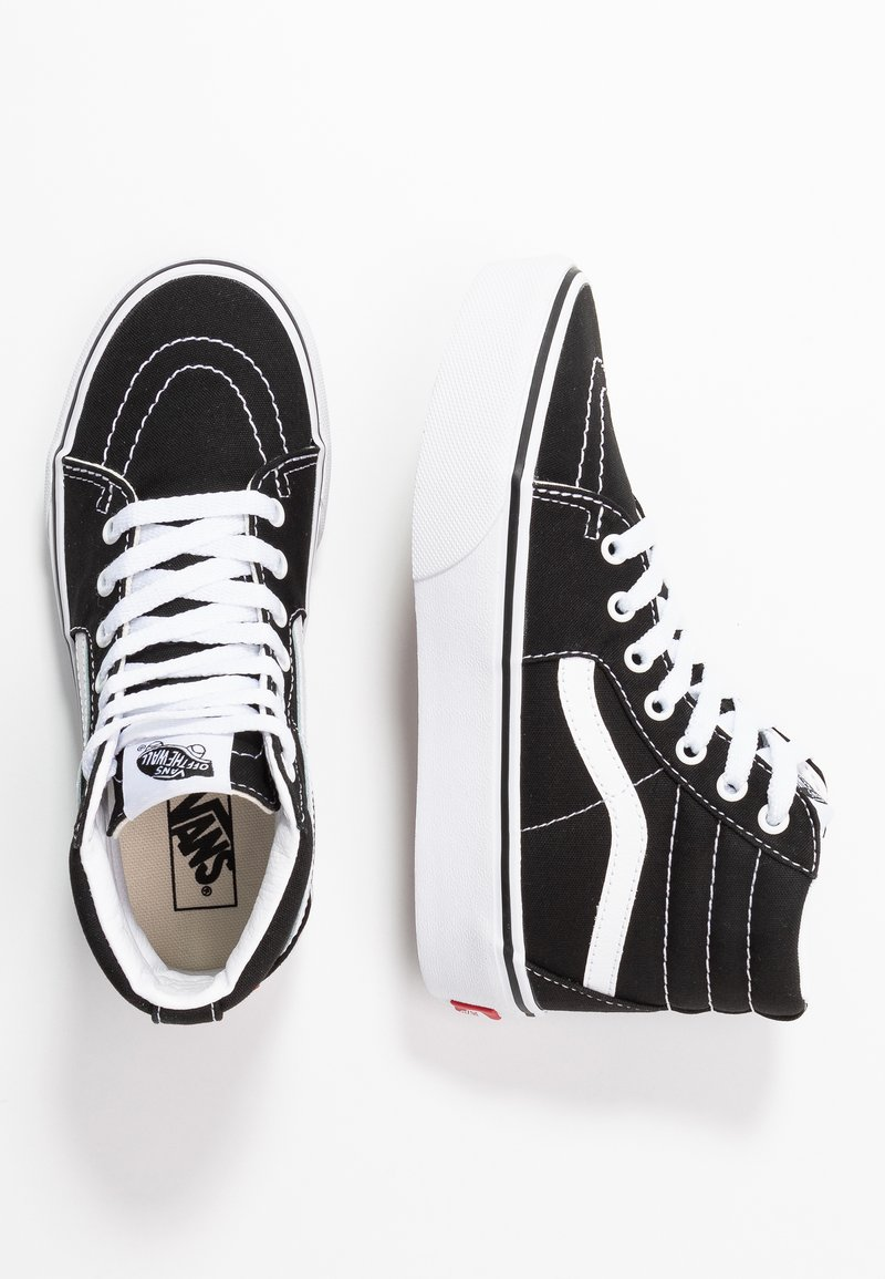 Vans - SK8 PLATFORM 2.0 - Zapatillas altas - black/true white