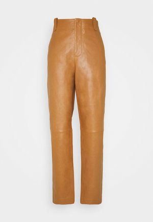 Pantaloni di pelle - brown