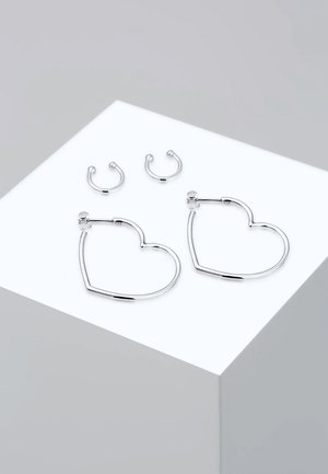 SET - Earrings - silver-coloured