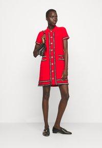 Pinko - FOOTBALL ABITO STRETCH - Shirt dress - red - 1