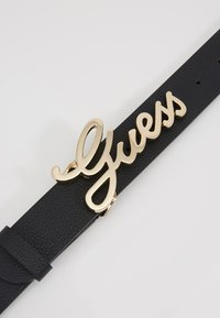 Guess - DIGITAL ADJUSTABLE PANT BELT - Bælter - black - 4