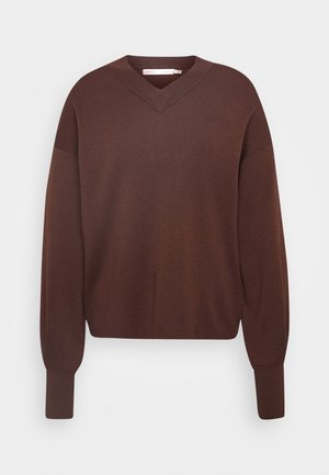 WANETTA V-NECK - Sweter - coffee brown