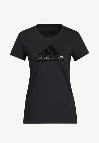 GLAM ON BOS TEE - Basic T-shirt - black/black