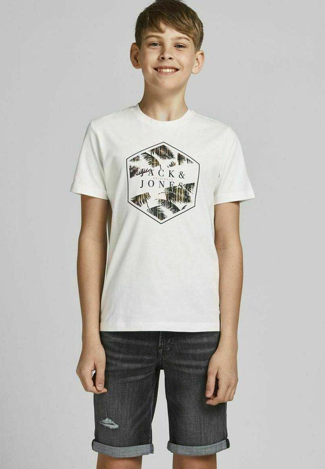 JUNGS TROPENPRINT - T-shirt med print - cloud dancer
