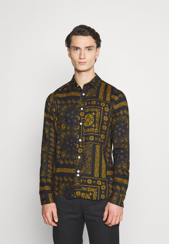 PAISLEY OVERSHIRT - Shirt - black/ gold