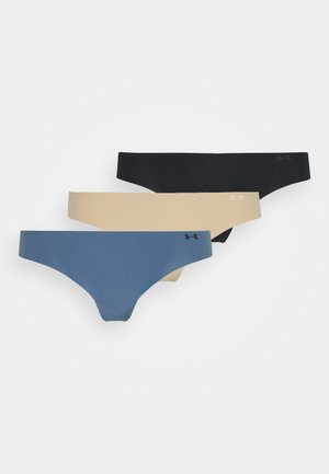 THONG 3 PACK - Tanga - black