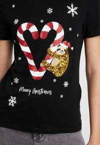 ONLY - ONLCHRISTMAS BLING BOX - T-shirts print - black - 4