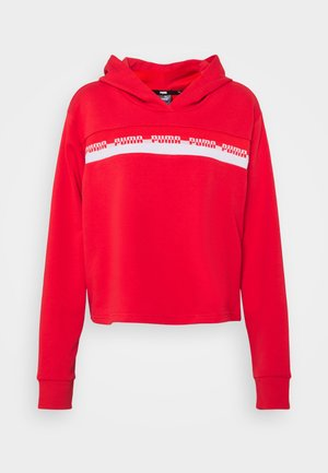 AMPLIFIED CROPPED HOODIE  - Jersey con capucha - poppy red