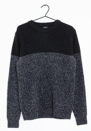 Stickad tröja - black/ grey