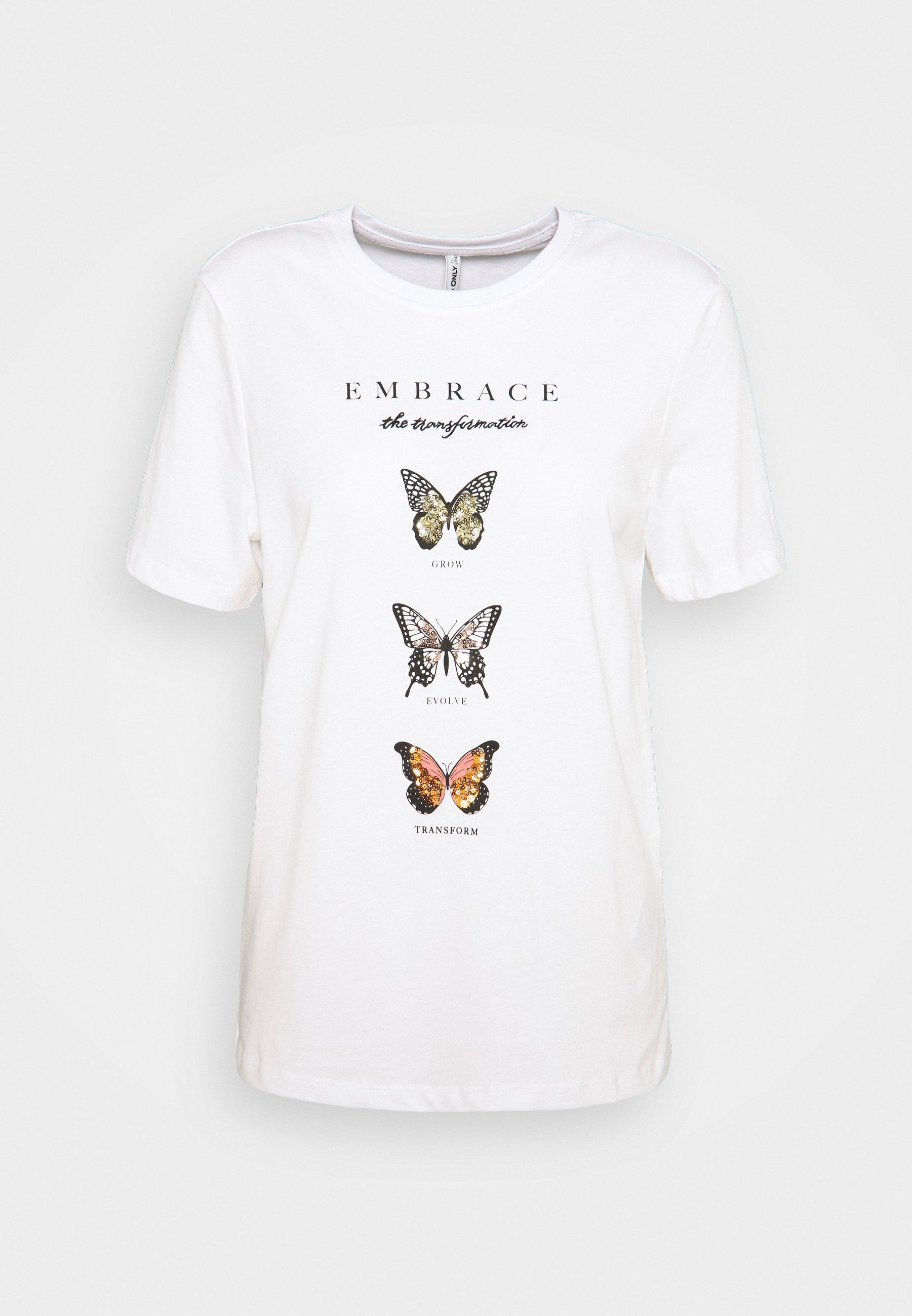 Women ONLKITA LIFE BUTTERFLY - Print T-shirt