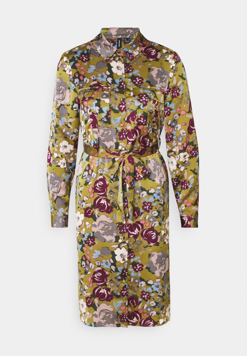Vero Moda Petite - VMEMELY BELT DRESS - Vestido informal - green moss