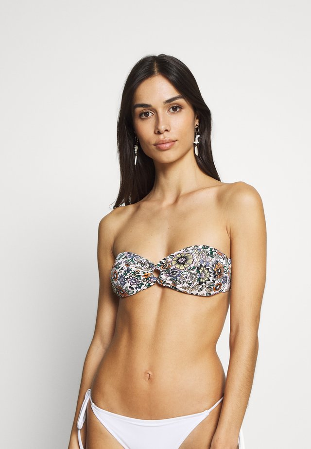 BANDEAU - Bikini top - brown/yellow