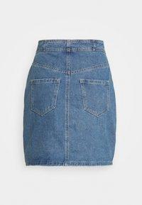 Missguided - CORSET DETAIL SKIRT - Denim skirt - blue - 1
