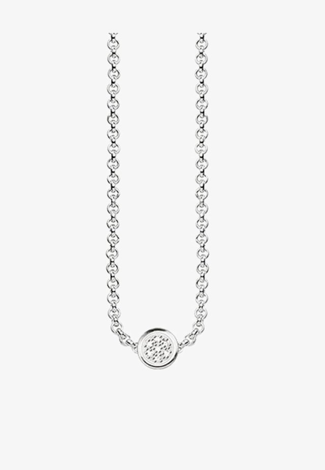 Necklace - silver-coloured/white