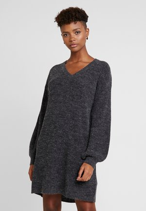 NOVO DRESS - Strikket kjole - dark grey melange