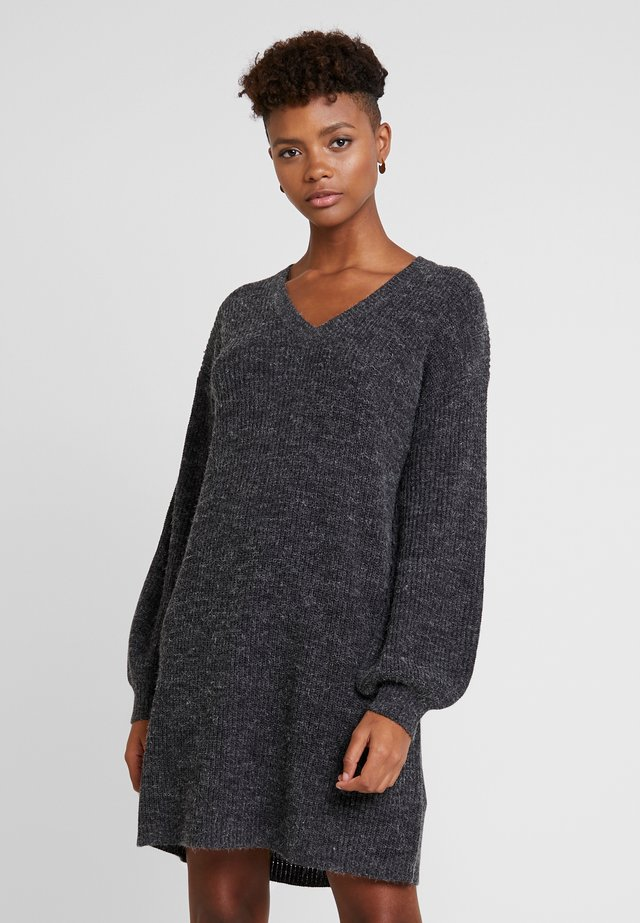 NOVO DRESS - Jumper dress - dark grey melange