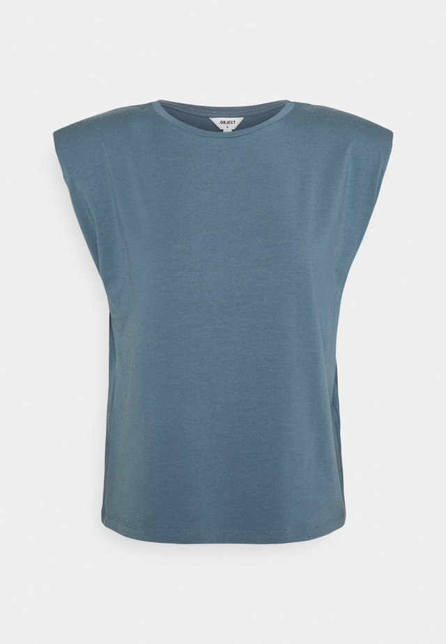 OBJSTEPHANIE JEANETTE - Basic T-shirt - blue mirage