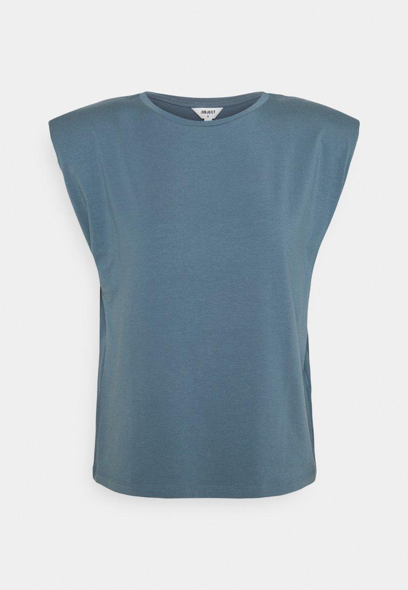 Object - OBJSTEPHANIE JEANETTE - Basic T-shirt - blue mirage